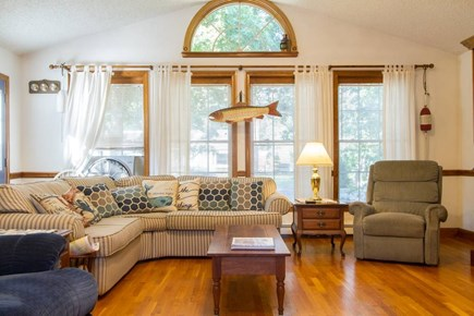 Harwich on Dennis Border Cape Cod vacation rental - Living Room includes television with Cable including NESN