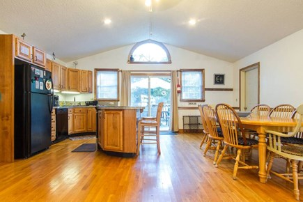 Harwich on the Dennis Border Cape Cod vacation rental - Kitchen and Dining Open Floor Plan