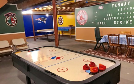 Harwich on Dennis Border Cape Cod vacation rental - Basement Air Hockey, Foosball, Ping Pong and plenty of games