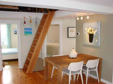 Provincetown Cape Cod vacation rental - Dinning area with stairs to loft