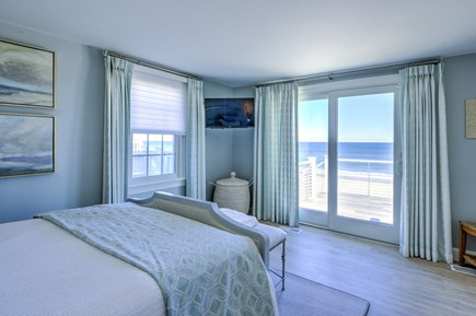 East Sandwich Cape Cod vacation rental - Slider to deck from Master Bedroom.