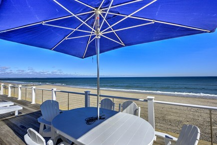 East Sandwich Cape Cod vacation rental - Generous deck seating, outdoor dining table and gas grill.