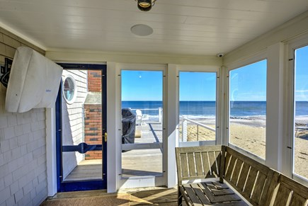 East Sandwich Cape Cod vacation rental - Entry screen porch with outdoor TV!