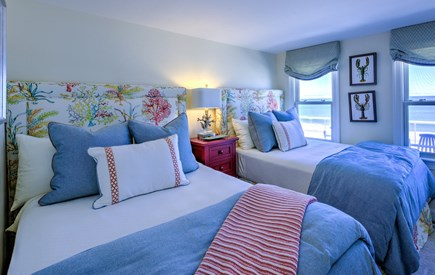 East Sandwich Cape Cod vacation rental - Bedroom with 2 Doubles and ocean views.