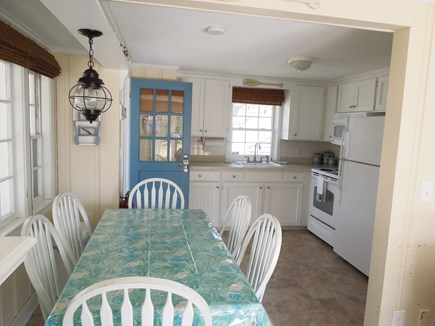 DennisPort Cape Cod vacation rental - dining while not loosing site of the ocean.