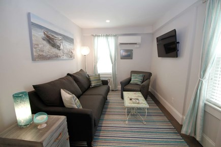 Provincetown Cape Cod vacation rental - Comfortable living room with sofa and flat screen TV
