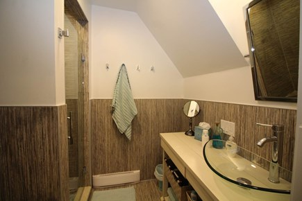Provincetown Cape Cod vacation rental - Bathroom with custom tiled shower
