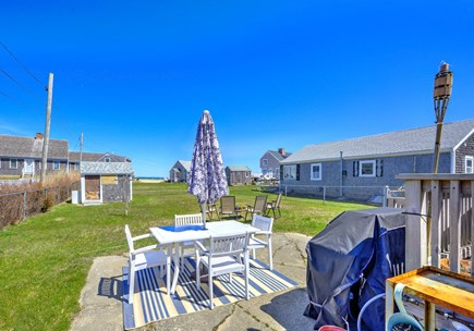 East Sandwich Cape Cod vacation rental - Outdoor seating and gas grill.