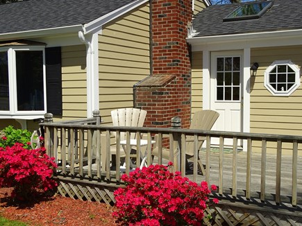 Harwich Cape Cod vacation rental - Front deck – best place for morning coffee