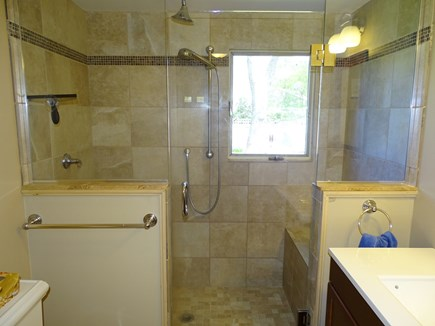 Harwich Cape Cod vacation rental - Spacious bathroom with large walk-in shower