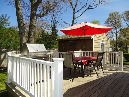 Harwich Cape Cod vacation rental - Deck area with gas grill