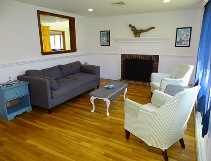 Harwich Cape Cod vacation rental - Living room, hardwood floors throughout