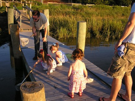 Chatham Cape Cod vacation rental - Our Saltwater Dock ........ A Child's Paradise!