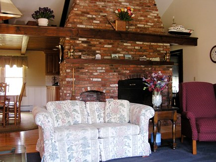 Chatham Cape Cod vacation rental - Cathedral Ceiling Fireplace