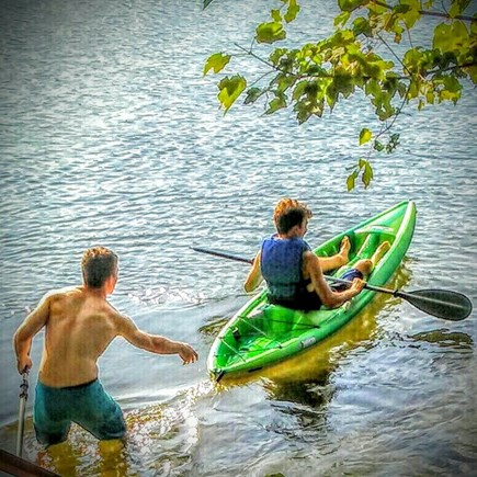 East Falmouth on fresh pond Cape Cod vacation rental - Enjoy kayaking