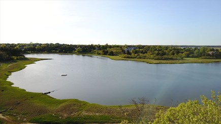 East orleans Cape Cod vacation rental - Aerial view of Woods Cove and Nauset Marsh