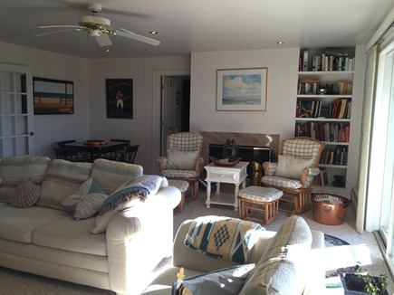 Truro Cape Cod vacation rental - Family Room Opens to Lower Deck