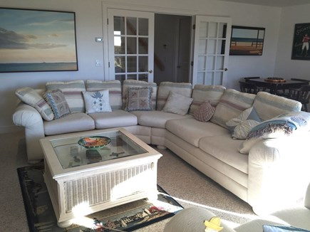 Truro Cape Cod vacation rental - Family Room has a Flat Screen TV, Comfy Furniture