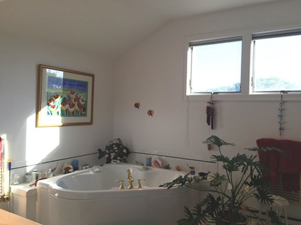 Truro Cape Cod vacation rental - Master Bath has large tub, separate shower