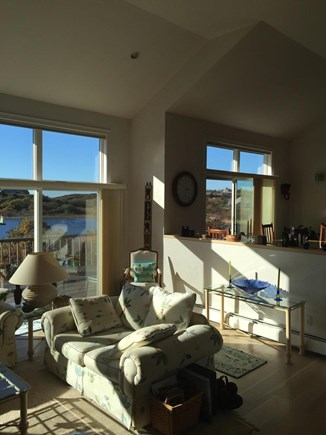 Truro Cape Cod vacation rental - Sunny Living Room Opens to Deck