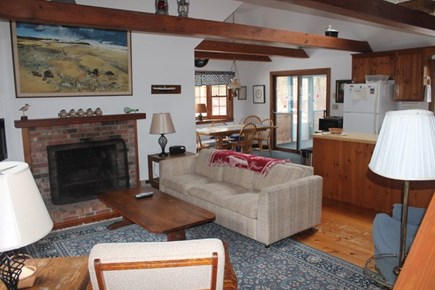 Eastham Cape Cod vacation rental - Living room open to kitchen