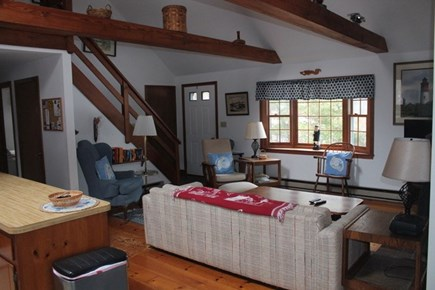 Eastham Cape Cod vacation rental - Living room with cathedral ceilings