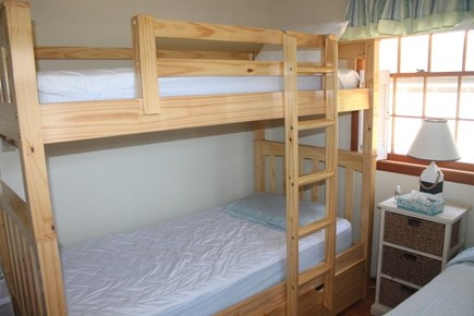 Eastham Cape Cod vacation rental - Bedroom 3 with twin bunk beds and a single twin