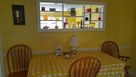 South Dennis Cape Cod vacation rental - Kitchen eating area