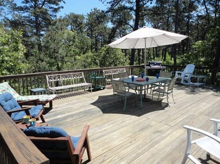 Wellfleet Cape Cod vacation rental - Plenty of room to lounge and enjoy, overlooking woods.
