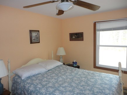 Wellfleet Cape Cod vacation rental - Double bed cooled by ceiling fan