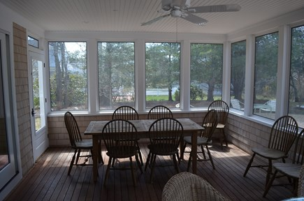 Cotuit Cotuit vacation rental - One end of screened porch