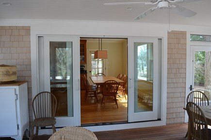 Cotuit Cotuit vacation rental - View into kitchen from screened porch