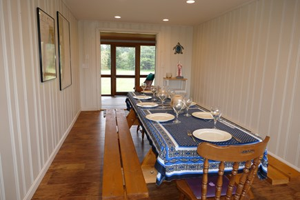 Wellfleet Cape Cod vacation rental - Dining room - opens to porch - easily sits 8 with Water views