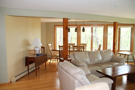 Wellfleet Cape Cod vacation rental - Living Room and Dining Area