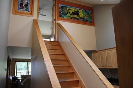 Wellfleet Cape Cod vacation rental - Stairway to Master Bedroom and Bath
