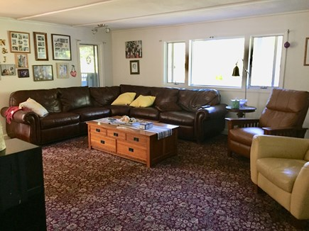 Truro Cape Cod vacation rental - TV Room with 65 Inch Smart TV. 2 Reclining chairs