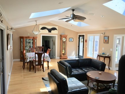 Truro Cape Cod vacation rental - FR, W/3 large Skylights, Dining Table seats 10 to 12.