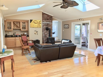 Truro Cape Cod vacation rental - Family Room, W/Bar, Ceiling Fan,Slider to screened Porch.