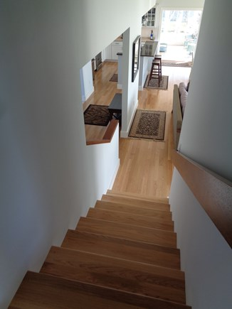 Wellfleet Cape Cod vacation rental - Going up from the living room to the master