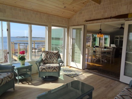 Wellfleet Cape Cod vacation rental - Beautiful 3-season room with views into the house and water views