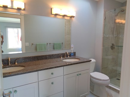 Wellfleet Cape Cod vacation rental - Elegant master bath with skylight