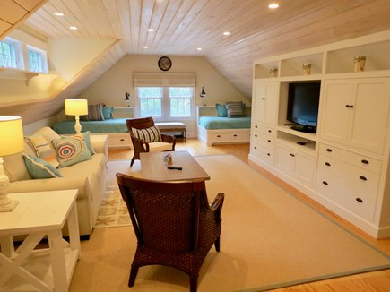 Orleans Cape Cod vacation rental - Upper level carriage house has a TV area, sleep sofa & two twins