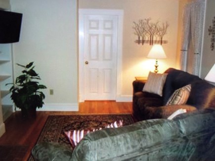 Hyannis Cape Cod vacation rental - Large living room with comfortable couches. And flat screen tv.