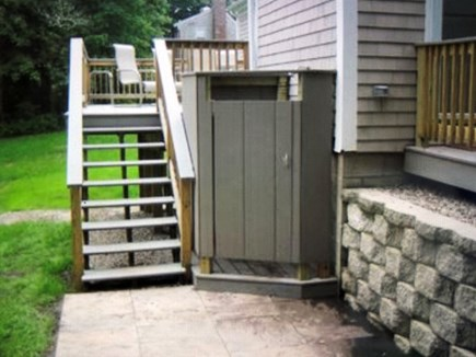 Hyannis Cape Cod vacation rental - Enjoy the outdoor shower after a long day at the beach.