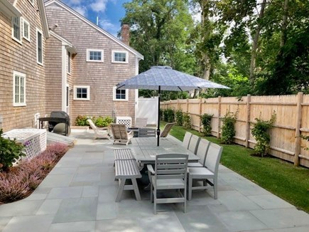 Barnstable Cape Cod vacation rental - Private patio provides roomy outdoor summer living at its best.