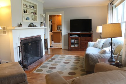Eastham, near Coast Guard Beach, Eastha Cape Cod vacation rental - Fireplaced living room