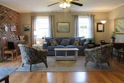 Eastham, near Coast Guard Beach, Eastha Cape Cod vacation rental -   Family room door can close to kitchen to make it private