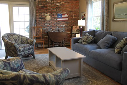 Eastham, near Coast Guard Beach, Eastha Cape Cod vacation rental - Family room opens onto large deck