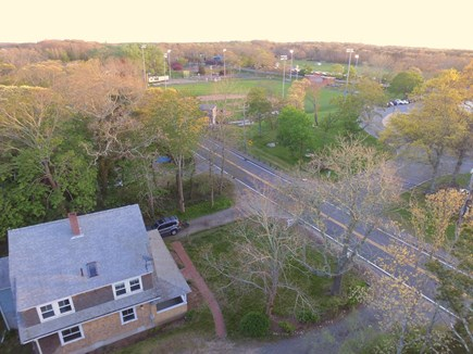 Orleans Cape Cod vacation rental - Aerial view of home - walk to Eldredge Park for baseball games