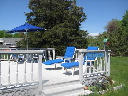 Falmouth Cape Cod vacation rental - Deck and large back yard